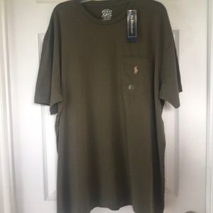 Brown Polo by Ralph Lauren T-Shirt;  size L; NWT